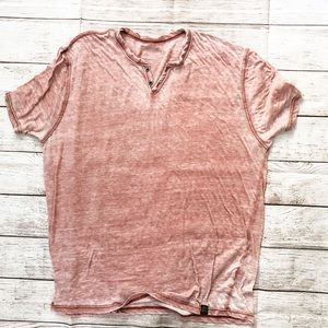 Lucky Brand Vintage Burnout Pink Tee